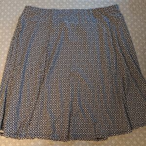 Talbots A-line black and white geometric skirt 2X